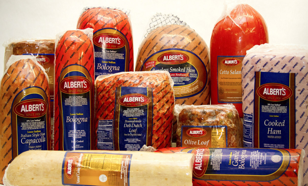 Alberts Meats Del Products on bologna lunch meat