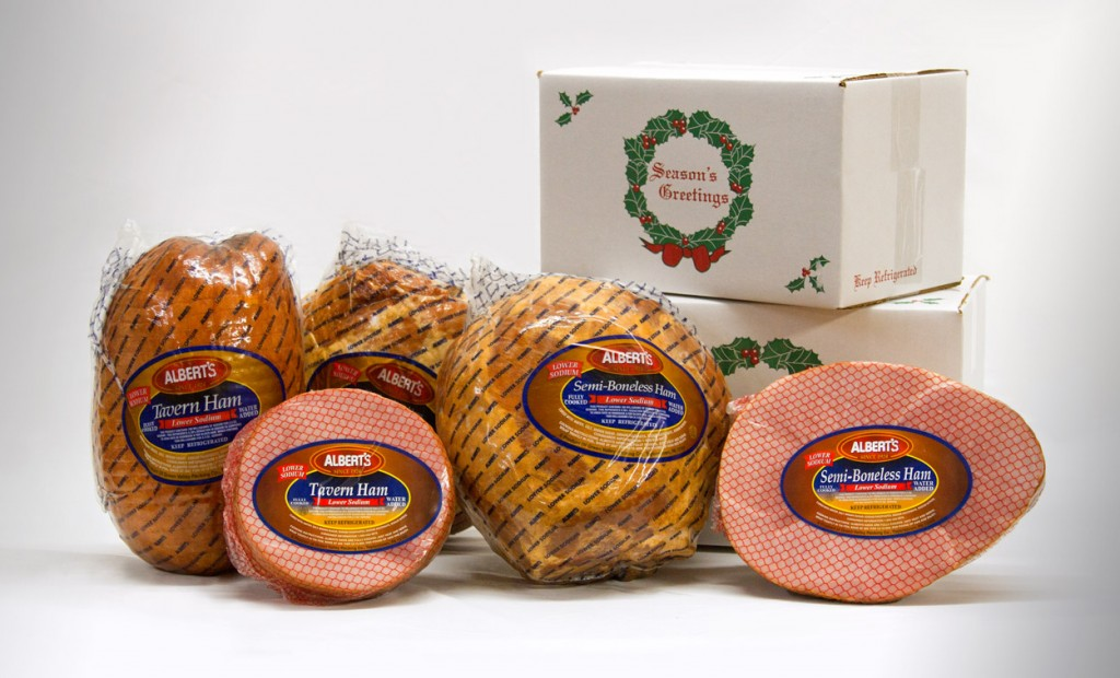 Albert's Meats Holiday Gift Hams for Businesses